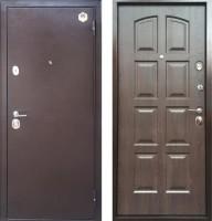 Стальная дверь Бульдорс 24 (панель F3, Дуб шоколад, 16мм)